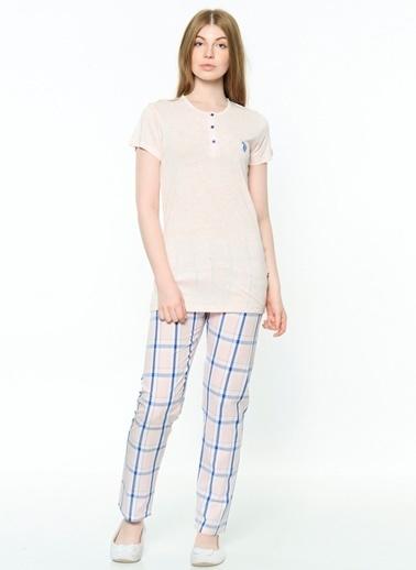 U.S. Polo Assn. Patlı Pijama Takım Pembe